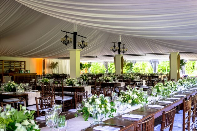 Wedding tent at Hildene by Janet Dunnington Events