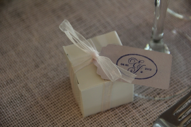 Personalized favor at a Hildene Wedding by Janet Dunnington Events