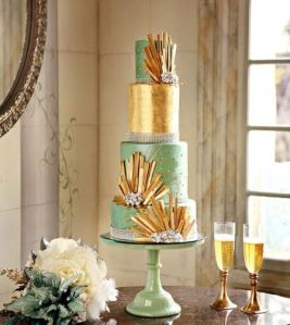 Wedding cake, wedding cake ideas, wedding theme ideas, vintage wedding themes, 2014 vintage, 2014 event color scheme, a favorite of Janet Dunnington Events