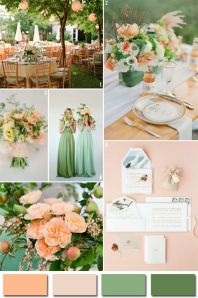 2014 color trends, style, design, event planning, wedding color scheme, wedding planning, Mint Bridesmaids dresses, peach garden roses a favorite of Janet Dunnington Events