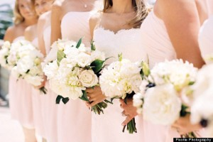 bridesmaids dresses, floral arrangements, wedding attire, beautiful bridesmaids dresses, gorgeous event planning, peonies, flower of 2014, 2014 wedding style, a favorite of Janet Dunnington Events