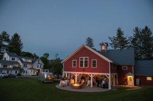 Night shot of Celebration Barn